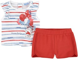 Mayoral Striped T-Shirt And Shorts Set Red