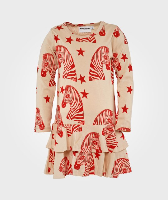 Mini Rodini Zebra Aop Dress, Pink Pink