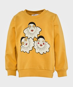 Mini Rodini Pierrot Sp Sweatshirt, Yellow