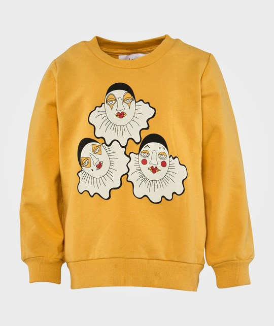 Mini Rodini Pierrot Sp Sweatshirt, Yellow Yellow