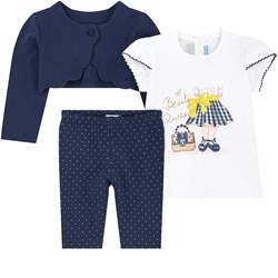 Mayoral 3-piece Girk Pr Baby Set Navy