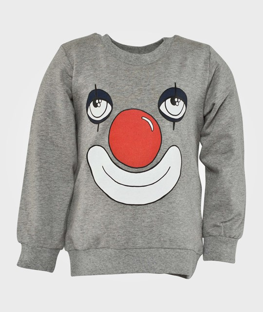 Mini Rodini Clown Sp Sweatshirt, Grey Mel Black