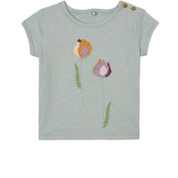 Soft Gallery Nelly Embroidered Tulips T-Shirt Abyss