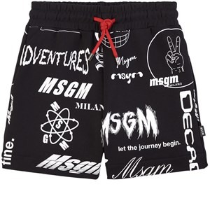 Image of MSGM All Over Print Shorts Sorte 12 år (1781783)