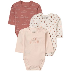 Image of Hust&Claire 3-Pack Base Baby Body Wheat 56 cm (1-2 mdr) (1844653)