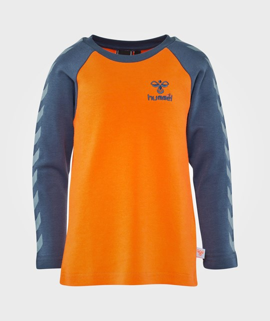 Hummel Lukas Ls Tee Aw14 Flame Orange