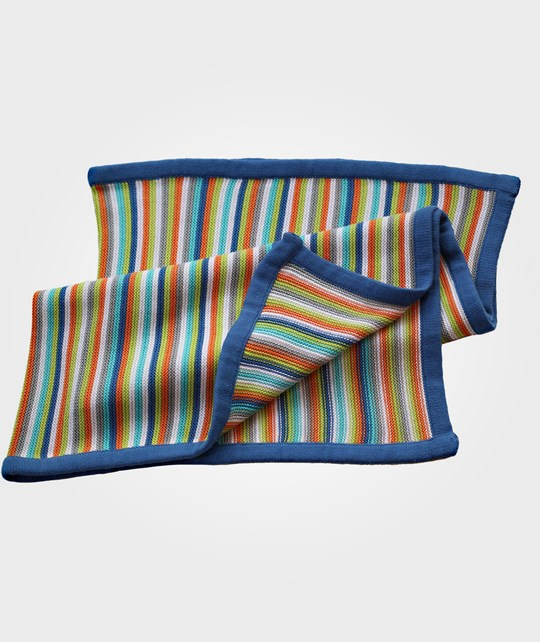 Bliss Blanket Stripey Blue Blue