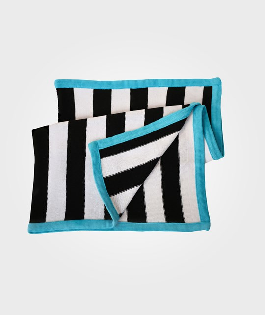 Bliss Knit Blanket Stripey Black/White Black
