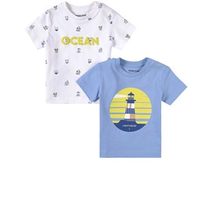 Image of Mayoral 2-Pack Ocean and Lighthouse T-Shirts Blue 12 mdr (1838727)
