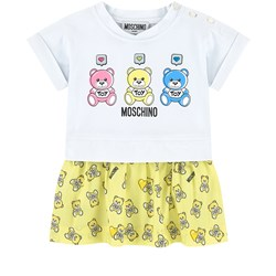 Moschino Kid-Teen Bear Print Baby Body Gul