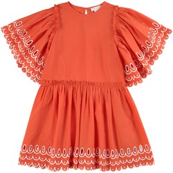 Stella McCartney Kids Scalloped Dress Flame