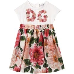 Dolce & Gabbana Floral Dress Cream