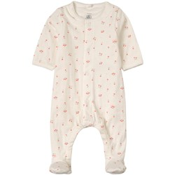 Petit Bateau 2-in-1 Cherry Print Footed Baby Body White