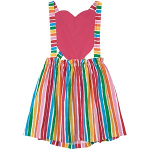 Image of Agatha Ruiz de la Prada Stripes and Heart Pinafore Kjole Lyserød 10 år (1736812)