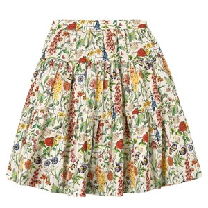 Image of The Middle Daughter Great Lengths Cotton Poplin Skirt Botanical 4 år (1871383)