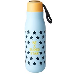 Rice Stainless Steel Drinking Bottle ´BE A SUPER STAR´ Print 12H Hot / 24H Cold