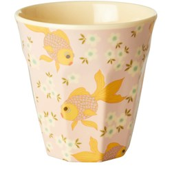 Rice Melamine Kids Cup with Goldfish print Small