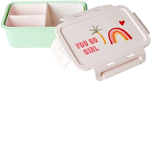 Image of Rice Lunchbox with 3 Inserts You Go Girl Print one size (1860009)