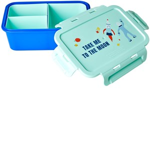 Image of Rice Lunchbox with 3 Inserts Space Print one size (1860013)