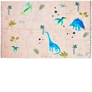 Image of Rice Chenile Carpet with Dinosaurs Print 180 x 120 cm one size (1860027)