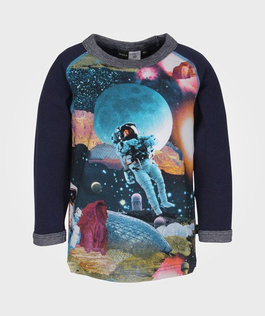 Molo Remington Top LS Space Collage Multi