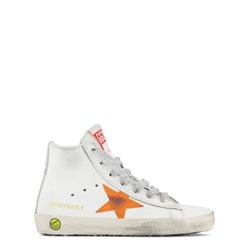 Golden Goose Superstar Leather Hi-Top Sneakers White