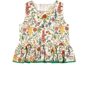 Image of The Middle Daughter Fair & Square Cotton Poplin Top Botanical 7-8 år (1871415)