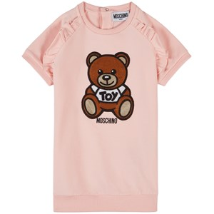 Image of Moschino Kid-Teen Bear Applique Frill Shoulder Sved Kjole Lyserød 18-24 months (1802609)