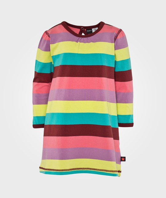 Molo Caroline Dress LS Girly Rainbow Multi