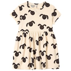 Mini Rodini Rabbits Print Dress White
