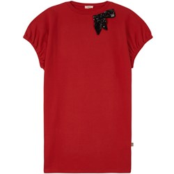 N°21 Bow Applique Dress Red