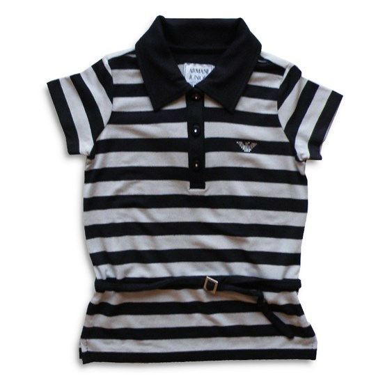 Emporio Armani T-shirt Striped With Belt Multi