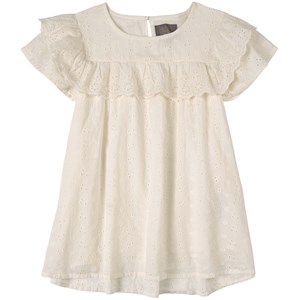 Image of Creamie Embroidered Bluse Cloud 104 cm (3-4 år) (1779549)