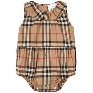 Image of Burberry Archive Check Noah Bubble Romper Beige 1 mdr (1840369)
