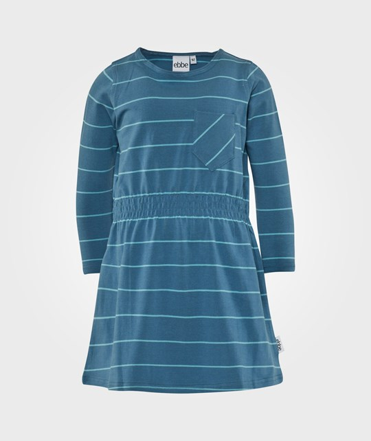 ebbe Kids Kajsa Dress L/S W Waist Steel Blue/Ice Blue Blue