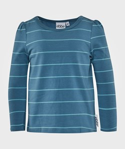 ebbe Kids Nelly T-Shirt L/S Girl Puffsl Steel Blue/Ice Blue