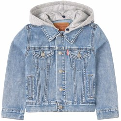 Levi's Kids Hooded Trucker Denim Jacket Blue