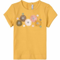 Mayoral Floral T-Shirt Yellow