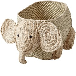 Rice Seagrass Storage in Elephant Shape