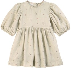 Bebe Organic Nora Dress Sage Flowers