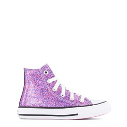 Converse Coated Glitter Chuck Taylor All Star Hi Tops Sneakers Pink