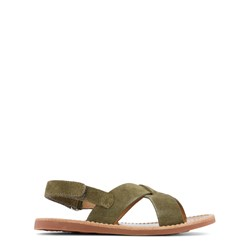 Pom D'api Plage Stitch Sandals Green