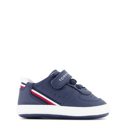 Tommy Hilfiger Flag Stripe Crib Shoes Navy