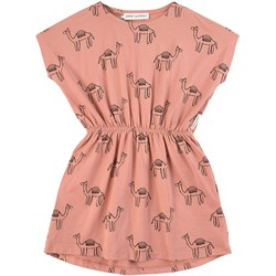 Sproet & Sprout Pink All Over Camel Print Dress