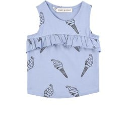 Sproet & Sprout Ice Cream Tank Top Bright Blue