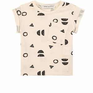 Image of Sproet & Sprout Abstract T-shirt Summer White 68-80 (6-12 months) (1835299)