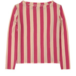 Little Creative Factory Playground Top Candy T-shirt Candy Pink Stripe 4 år