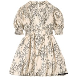 Little Creative Factory Parachute Print Dress Cream