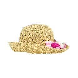 Mayoral Bow Braided Sun Hat Brown