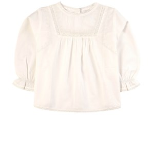 Belle Enfant Lace and Embroidery Bluse Taupe 2-3 år